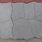 Квадрат «ДИКИЙ КАМЕНЬ» 30х30х4 см серый