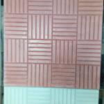 Квадрат «ПАРКЕТ» 30 х 30 х 3 см Красный