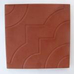 Квадрат «УЗОР» 30х30х3 см красный