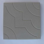 Квадрат «УЗОР» 30х30х3 см серый