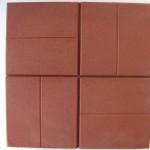 Квадрат 40х40х6 см «8 КИРПИЧИКОВ» красный