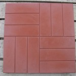 Квадрат 50х50х5 см «12 КИРПИЧИКОВ» красный