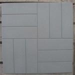 Квадрат 50х50х5 см «12 КИРПИЧИКОВ» серый